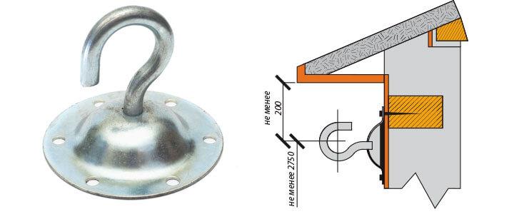 крюк сферический КФС 12